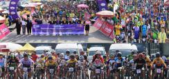 พลเอกเดชา เหมกระศรี นายกสมาคมกีฬาจักรยานแห่งประเทศไทย และผู้ว่าราชการจังหวัดนครนายก ร่วมเปิดการแข่งขันจักรยานเสือภูเขาทางเรียบ ใจเกินร้อย ชิงแชมป์ประเทศไทย ประจำปี2562